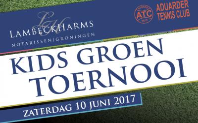 Het Lambeck Harms Notarissen Kids Groen Toernooi op de Aduarder Tennisclub!