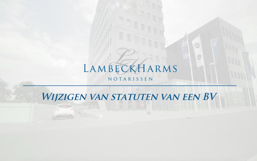 Film: Wijzigen statuten van een BV